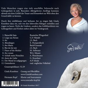 CD Carried by the Wings of Angles – Music for deep emotional comfort